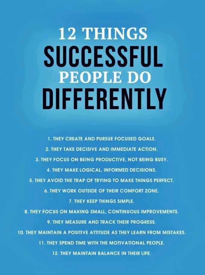 12 Success Tips